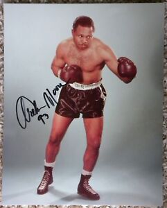 Boxing Heavyweight Champ Archie Moore Signed 8x10 Photo Auto (d.1998)