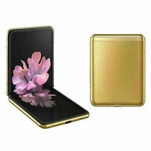 """Samsung Galaxy Z Flip F700F Gold 6.7"""" foldable screen 256GB Phone By FedEx"""