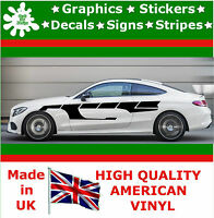 """10"""" High Car Side Stripes Graphic Decal Vinyl Stickers Van Auto Rally Race F1_28"""
