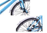 Claud Butler 700 x 25c Wheel Lightweight Road Bike Front & Rear Mudguards Silver