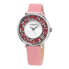 Stuhrling 793.01 793 01 Vogue Analog Crystal Accented Quartz Pink Womens Watch