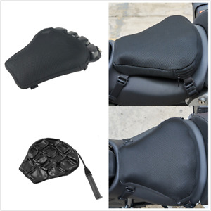 15x14.2in Motorcycle XL Large 3D Comfort Seat Cushion TPU Soft Air Pad With Pump