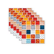 6 Pcs Self-adhesive Mosaic Tile Floor Wall Sticker Stair Kitchen Bathroom Decor