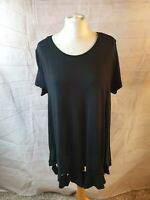 Cos Black Scoop Neck Short Sleeve A-Line Jersey Oversized Tunic Long Top Size M