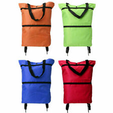 Foldable Portable Shopping Storage Cart Bags Trolley Bag Food Grocery On Wheels