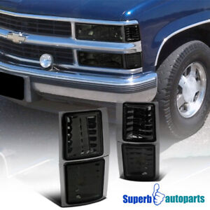 For 1994-1998 Chevy C10 4PC Smoke Corner Lights Signal Lamps Silverado Tahoe