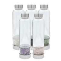 Colorful Natural Quartz Cup Gemstone Crystal Glass Water Bottle for Healing Gift