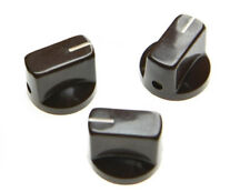 *NEW Set of 3 Amp Style Pointer KNOBS for Amps, Pedals + Guitars Brown