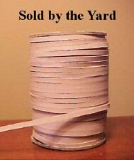 UNDYED, UNFINISHED NATURAL Kangaroo Leather Lacing 1/8 Inch Width - SOLD BY YARD