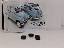 FIAT 600   DEL 55 - COPRI PEDALI FRIZIONE/FRENO / ACCELLERATORE ORIGINALI