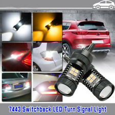 7443 LED Switchback 3030 16SMD White Yellow Turn Signal Lights Bulbs 2 Color New