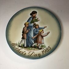 """Plate, 1985 Mother's Day, """"A Mother's Journey"""" Inspired by Berta Hummel"""