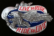 Motorcycles Live To Ride Chopper Eagle Men Belt Buckles Boucle de Ceinture