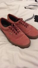 info for 84190 893d0 Mens Pink Salmon Suede Vans Size UK 9 great condition