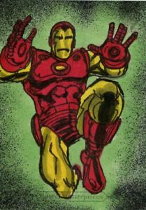Upper Deck Marvel Masterpieces 2018 Sketch Card By Brian Kong Iron Man