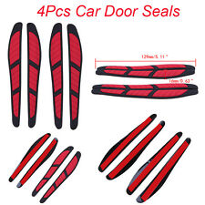 4Pcs Universal Scratch Strip Protection Car Door Edge Guards Trim Molding Red