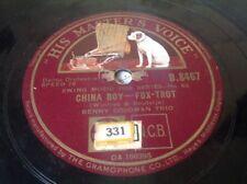 78 Rpm BENNY GOODMAN - China Boy -Master's Voice B.8467