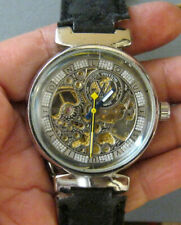 DESIGNER AUTOMATIC WIND MENS SKELETON WATCH AS IS
