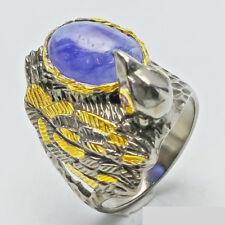 Ring mit Saphir 925er Silber Gr 18,5
