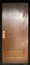 "36""x84 Vintage Antique Interior SOLID Wood Wooden Door Wooden Louvers Vent Panel"