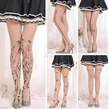 Fashion Women's Tattoo Pattern Sheer Pantyhose Socks Tights Stockings Stockings