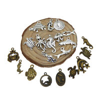 20 pcs Handicraft Vintage Metal Marine Life Charms DIY Pendant Jewelry Making