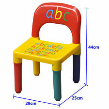 Kids CHAIR ABC Alphabet Childrens Plastic Toddlers Childs BOXED
