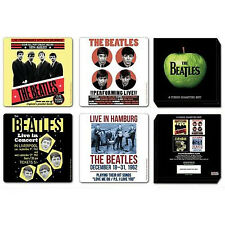 The Beatles 4 Piece Coaster Set 1962 Anniversary *OFFICIAL LICENSED* Drink Gift
