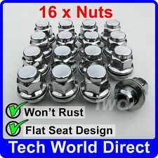 ALLOY WHEEL NUTS - TOYOTA AVENSIS X16 CHROME LUG BOLT TOP QUALITY SET [A40]
