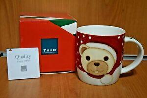 """THUN Collezione Solidale """"Teddy Buone Feste"""" Mug Tazza Esclusiva THUN Originale"""