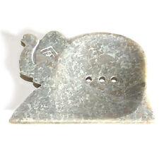 Elephant Large Natural Soapstone Dish Draining Soap Holder Tray Bath Accessories