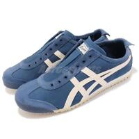 Asics Onitsuka Tiger Mexico 66 Slip On Blue Ivory Men Casual Shoes 1183A042-400