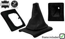 BLACK STITCH LEATHER GEAR BOOT + SURROUND BASE FRAME FOR VW GOLF MK3 JETTA 91-98
