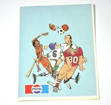 BELLA PEPSI COLA USA anni 1980 SUPPORTO CON American Football Basket Motivo