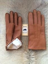 Peccary Leather Gloves with Rabbit fur lining for men's Winter Gloves