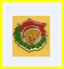 Pin's lapel pin pins BD TITI Tweety Bird avec bonnet de Noël