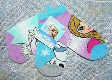 Disney's FROZEN  Girls Socks , Size 6-8 NEW w/Tags  3 Pairs ADORABLE! Great Gift