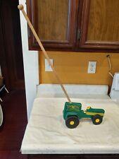 John Deere Moline Ill Trade Mark Wood Push Pull Tractor Toddler Vintage