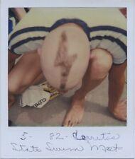 Vintage photo. POLAROID. ARTY ANGLE OF MALE SWIMMER'S BIZARRE HAIRCUT.