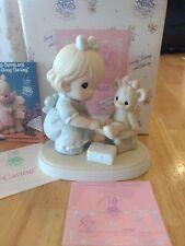 Enesco Precious Moments Caring 1994 Members Only Figurine Pm941 Girl Nurse Bear