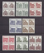 AM0182) GERMANY FRG 454-461 in Pair of four MNH, Famous German Buildings