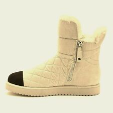 NEW $79.99 WOMENS MADDEN GIRL WINTER WHITE DOWNWIND PUFFER ANKLE BOOTS SIZE 8.5