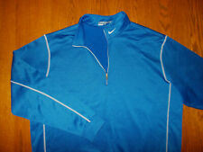 Nike Golf Therma-Fit 1/2 Zip Long Sleeve Royal Blue Pullover Mens Xl Excellent