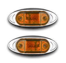 Pair of 12V Yellow Amber LED Marker Light VAN TRAILER CARAVAN CAMPER MOTORHOME