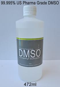 472ml (16oz) Pure DMSO 99.995% Pharmaceutical Grade Dimethyl Sulfoxide PE Bottle