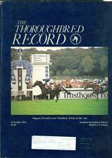 1984 Thoroughbred Record Magazine: Sagace Wins Arc/Highflyer Yearling