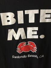 Joe's Crab Shack Bite Me Tee Shirt Redondo Beach Ca Black Men's Large NWOT