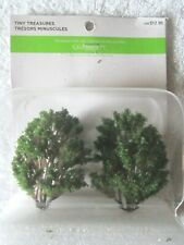 Celebrate It Tiny Treasures Woodland Fairy Tale Green Tree Set Miniatures – Nip