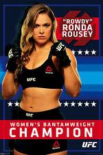 RONDA ROWDY ROUSEY REEBOK UFC CHAMPION MMA BEAUTIFUL FIGHTER single 24x36 poster
