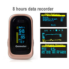 Pulse Oximeter SPO2 PR PI ODI*4 Sleep Monitor 8 Hours Data Recorder 4 Paramters
